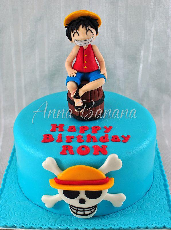 Monkey D Luffy One Piece Cake One Piece Anime Cake Cake Peace Cake