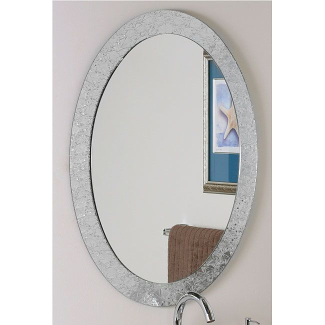 Oval Mirror Bathroom Decor, Vanity Mirror Frameless Oval