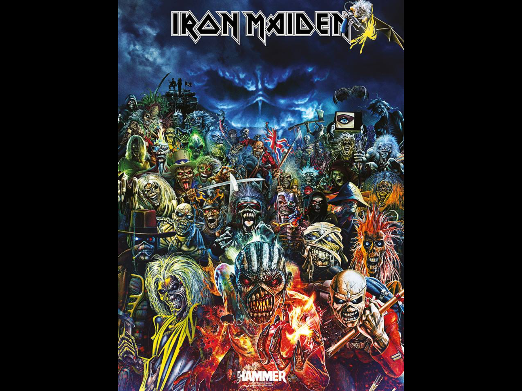 Iron Maiden Needlework Crafts Painting Christmas Crafts For Gifts