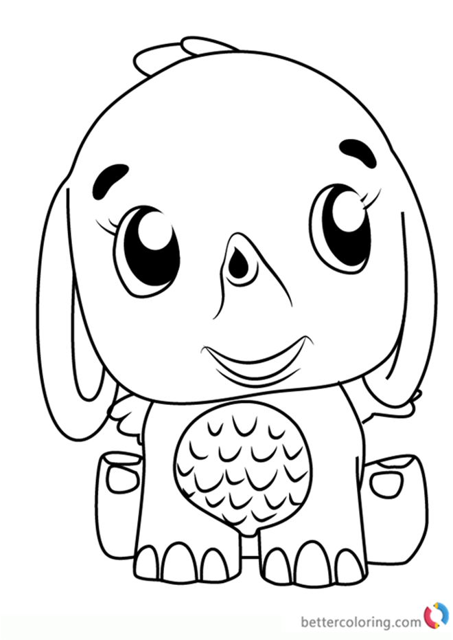 Hatchimals Coloring Pages Elefly Hatchimals Coloring Pages Free For