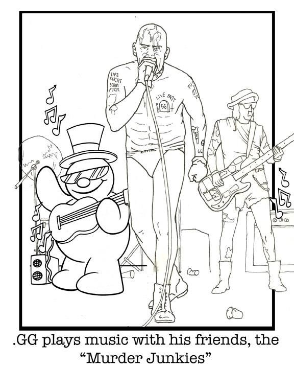 gg allin kids coloring u0026 activity book punk and other music