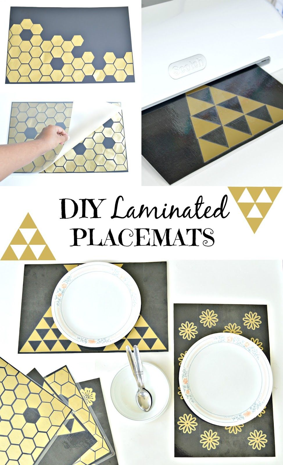 Diy Laminated Placemats Laminating Crafts Diy Placemats Placemats