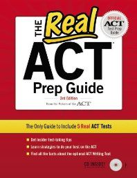 The Real ACT (CD) 3rd Edition (Real Act Prep Guide)