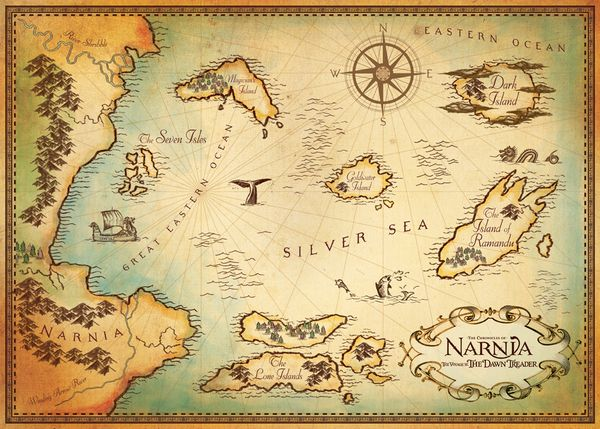 Beautiful Map Of Narnia Fictional Worlds Maps Pinterest