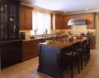 hopefully what my kitchen will look like w black island and oak rh pinterest com