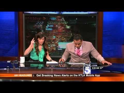 Los Angeles Ktla News Anchors Reaction To Earthquake Losangeles News Earthquake News Anchor Live Tv Nbc News Anchors