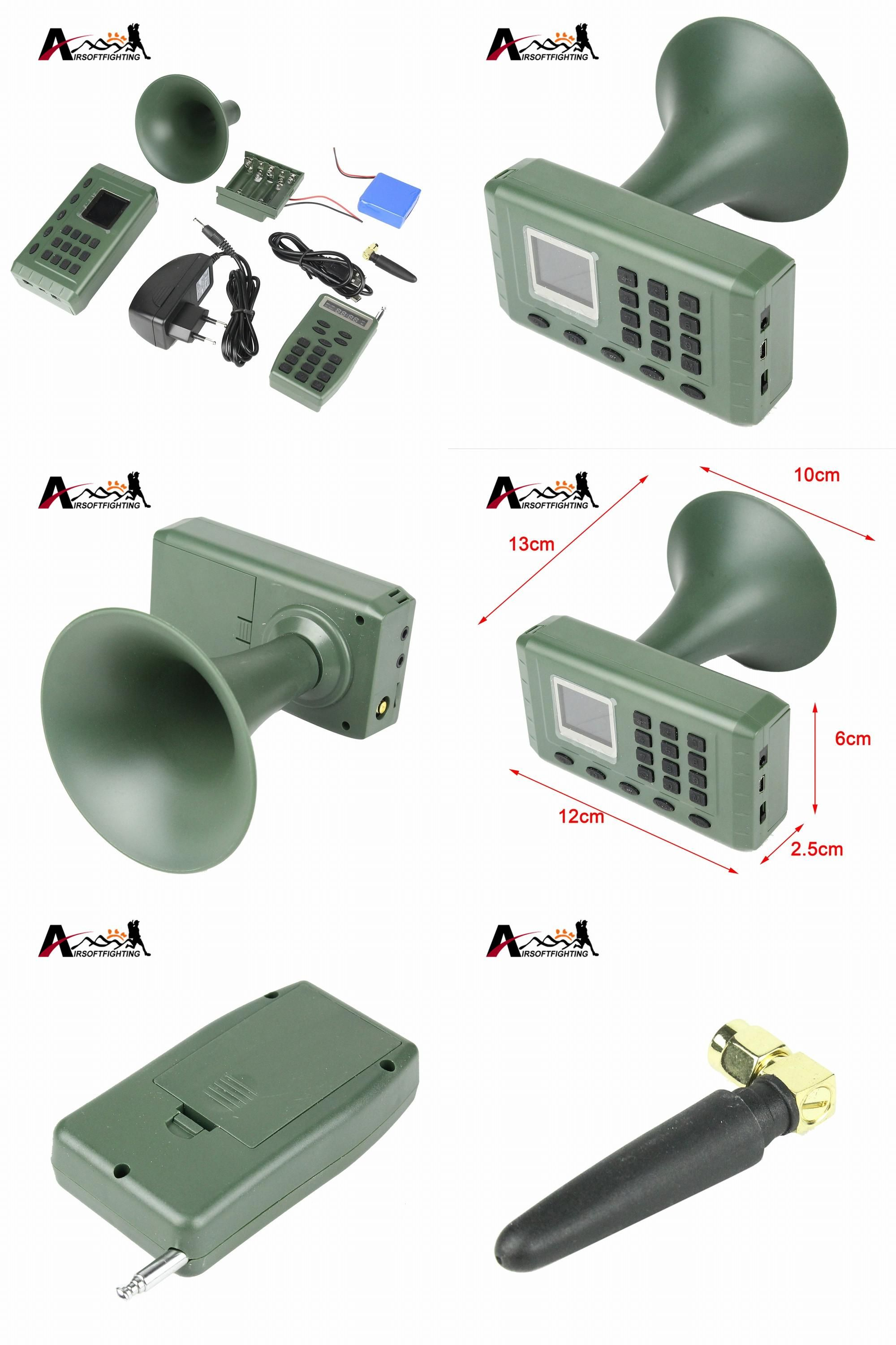Visit To Buy Tactical Hunting Decoy Bird Caller Cp380 Sound Audio Amplifier Timer Player Remote Control