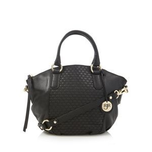 John Rocha Designer Black Leather Quilted Dome Bag At Debenhams