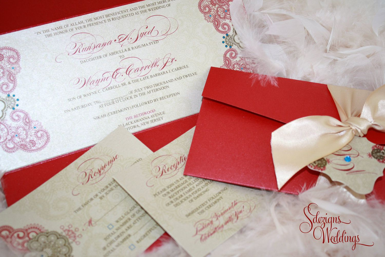 Indian Wedding Invitation / Henna Pattern Invitation / Hindu Wedding ...