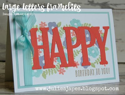 Julie kettlewell stampin up uk independent demonstrator order julie kettlewell stampin up uk independent demonstrator order products happy birthday with large letters bookmarktalkfo Gallery