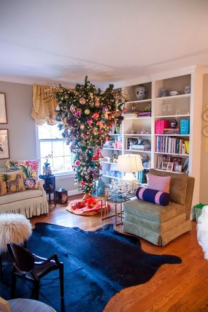chinoiserie chic my living room and upside down christmas tree rh pinterest com