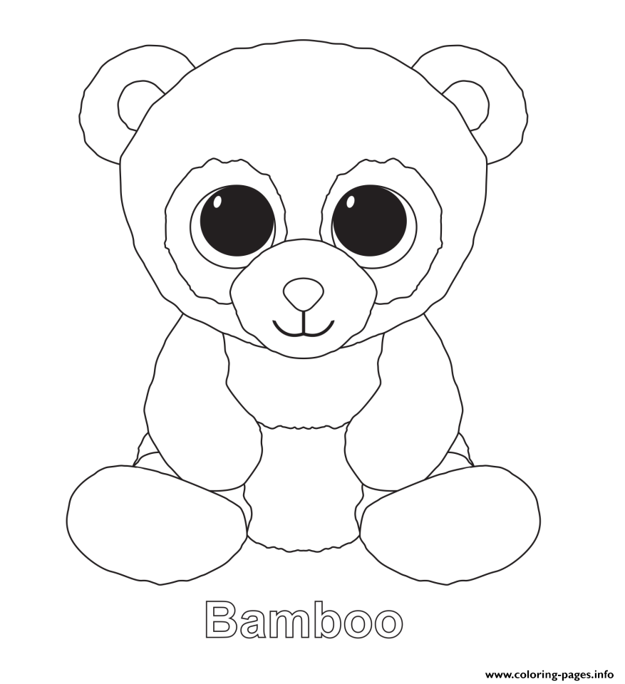 Print bamboo beanie boo coloring