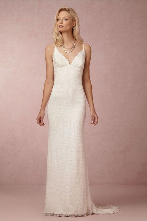 Monique Lhuillier Sienna Chantilly Lace Gown | ~ Wedding ~ | Pinterest