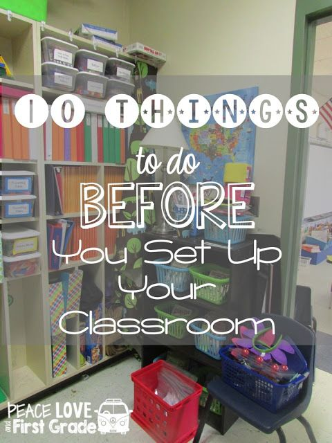 10 things to do before you set up your classroom primary chalkboard rh pinterest com