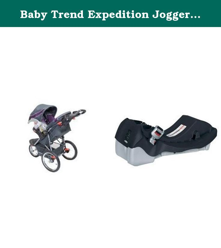 Baby Trend Expedition Jogger Travel System And Flex Loc Car Seat Base Black