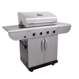 Commercial Stainless Steel And Black 4 Burner 40 000 Btu Liquid Propane Gas Grill Prefab Outdoor Kitchen Gas Grill Outdoor Kitchen Appliances