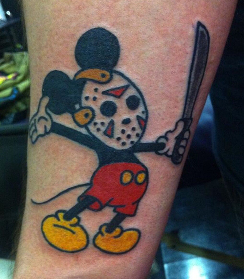 Friday 13th Mickey Mouse Tattoo
