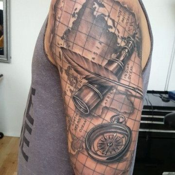 tud  pass and map tattoos pinterest compass and tattoo
