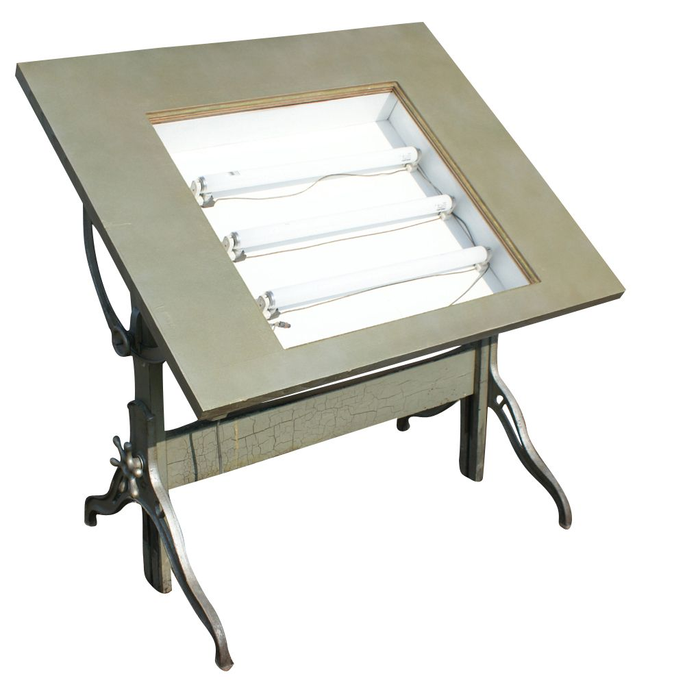 Mayline Lighted Drafting Table | Description Vintage Drafting Table Large  Adjustable Drafting Table .