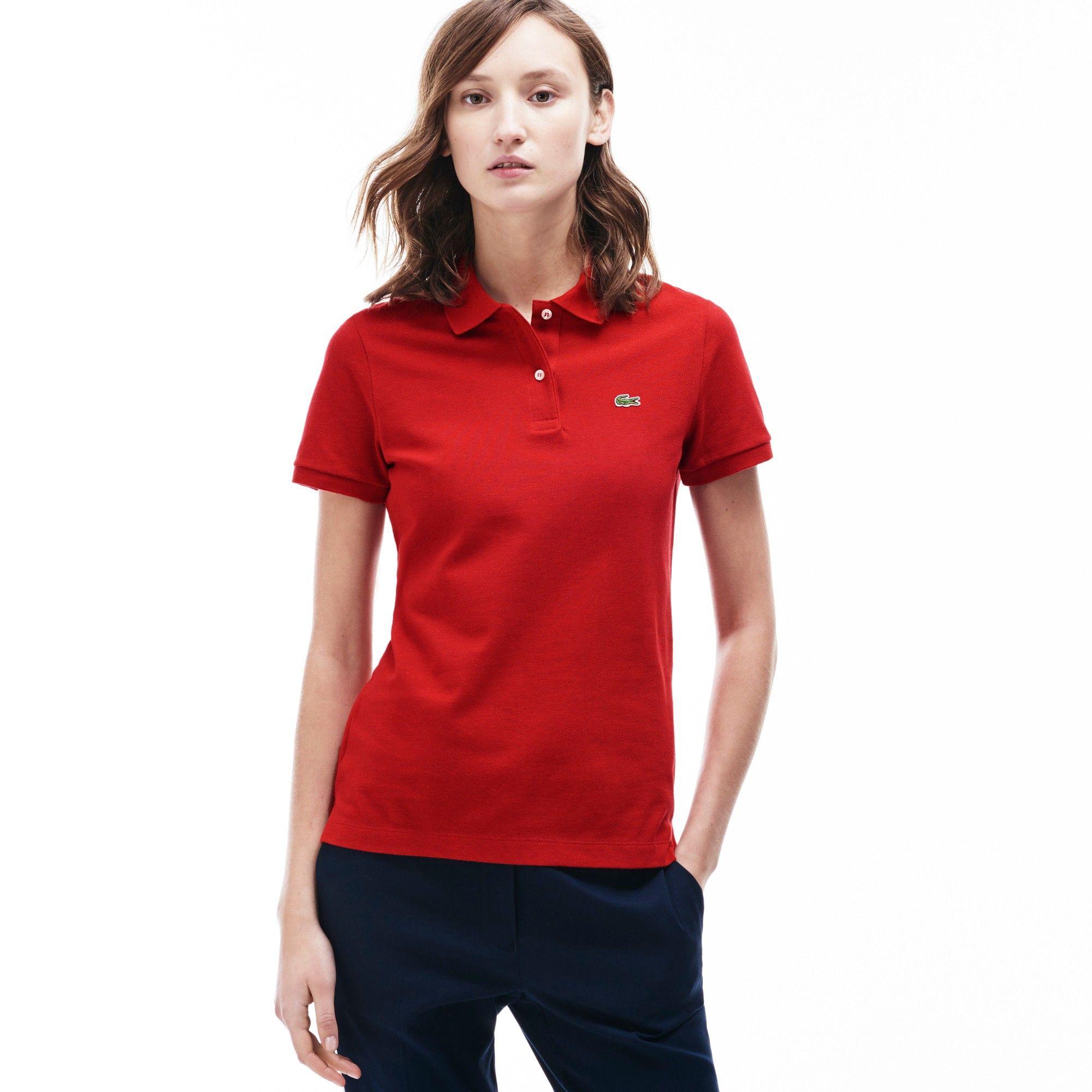 Lacoste Womens Classic Fit Piqu Polo Shirt Grenadine Chine