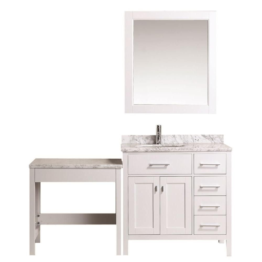 design element london 36 in w x 22 in d vanity in white with rh pinterest ca
