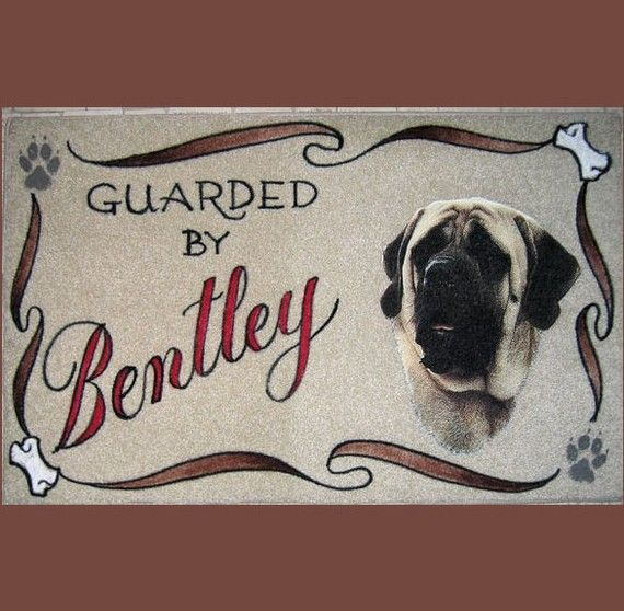 MASTIFF personalized dog door matairbrushdoormatpet by vandyhill, $24.95