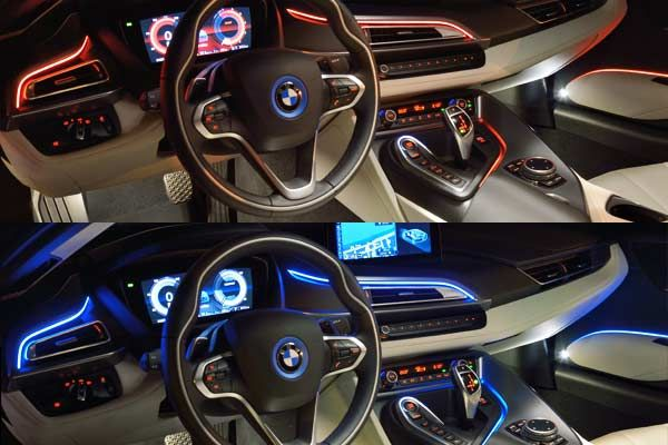 Hot as fire or cool as ice? In the BMW i8 color schemes