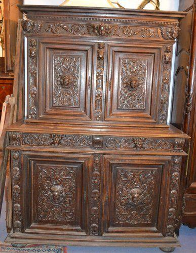Deux-corps à retrait Louis XIII Historical furniture Pinterest
