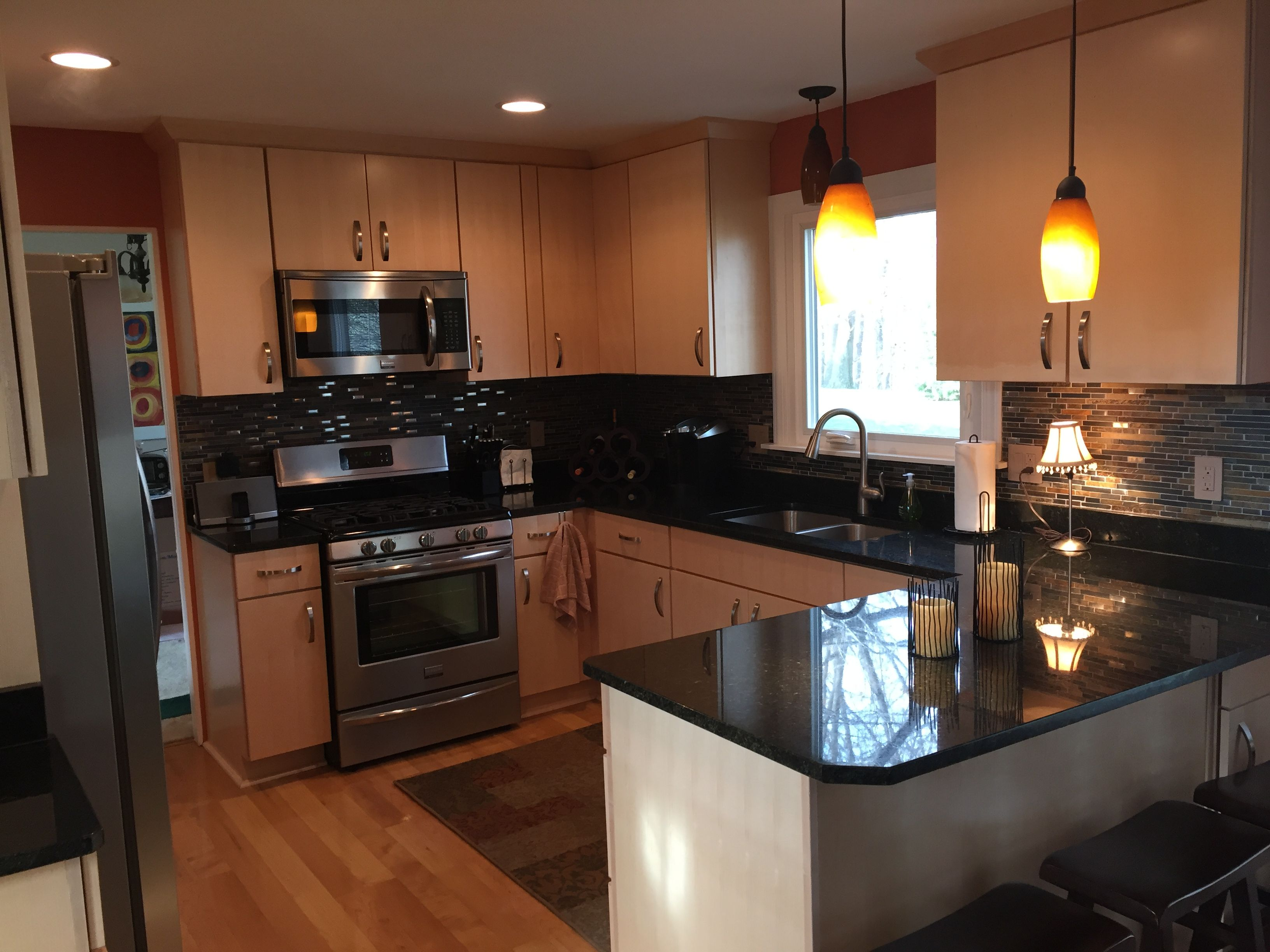 we installed natural quartersawn maple cabinets with uba tuba rh pinterest com