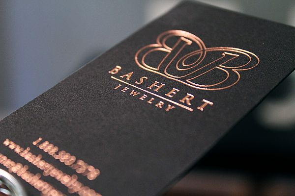 Beautiful foil stamped business cards on black paper - The Windmill Paper Boutique | Cards, Stationery & Invitations
