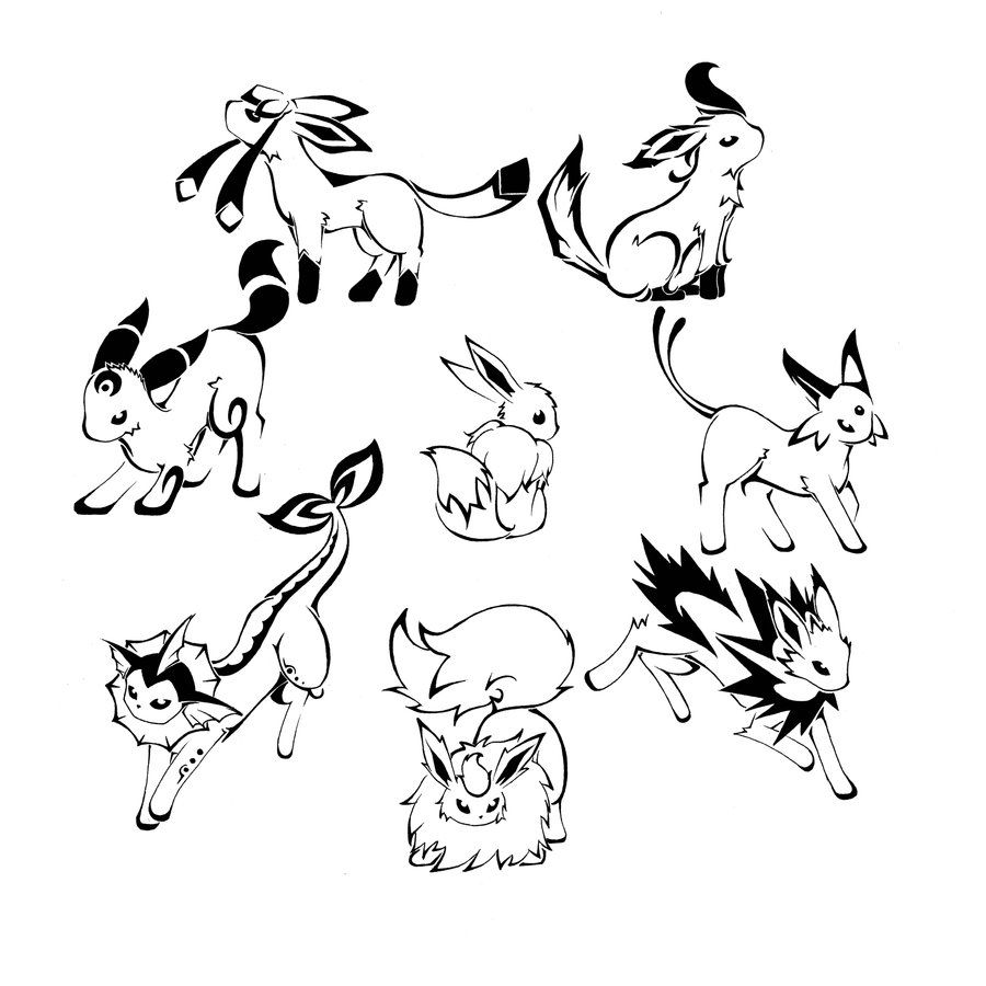 Eeveelutions Love Pokemon Coloring Pages Pokemon Coloring Pokemon Eevee Evolutions