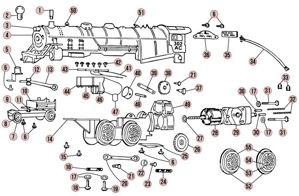 American Flyer  302ac  Part Diagrams In 2020