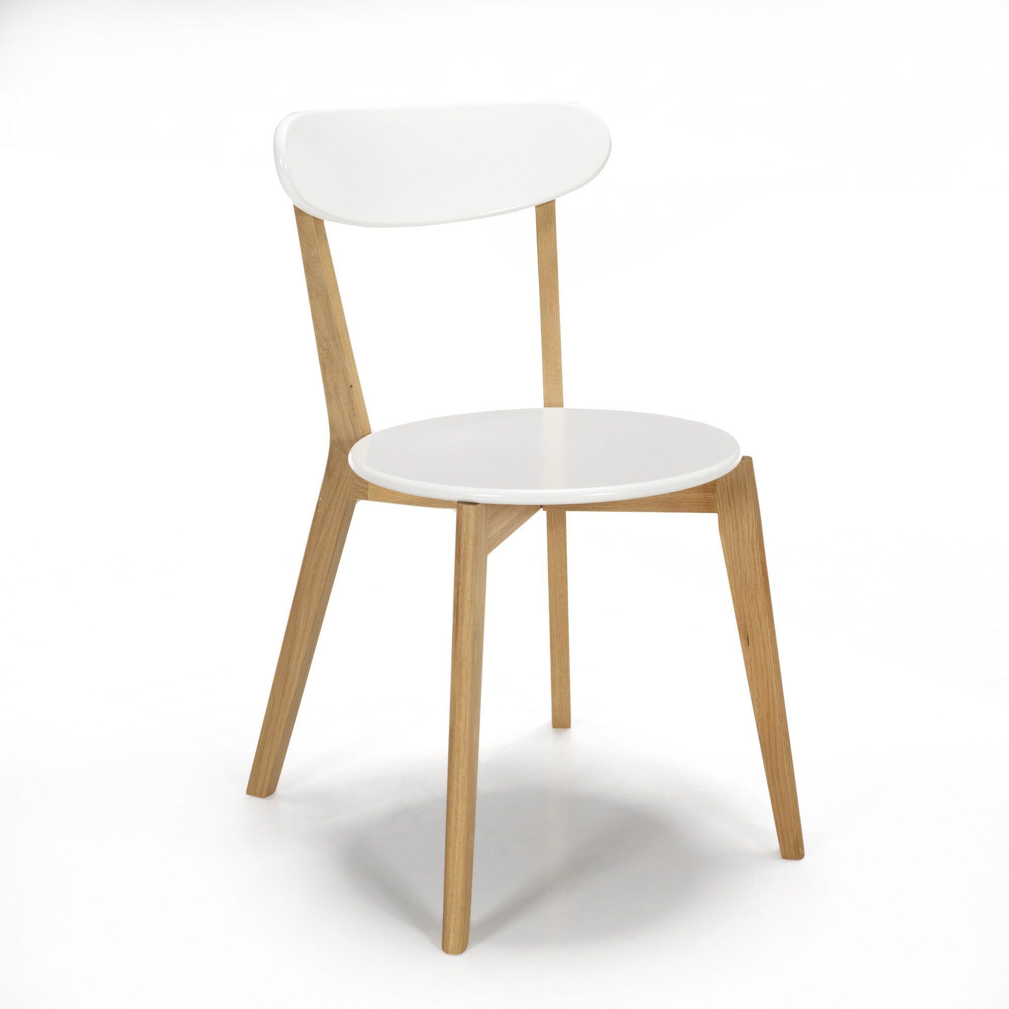 Chaise Design Scandinave Coloris Blanc Blanc Siwa Les Chaises