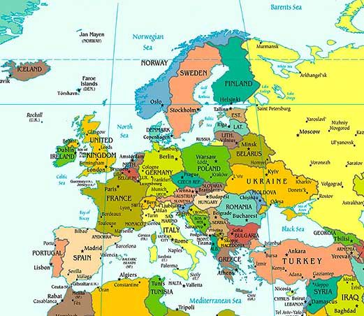 europe map map of europe facts geography history of europe worldatlas