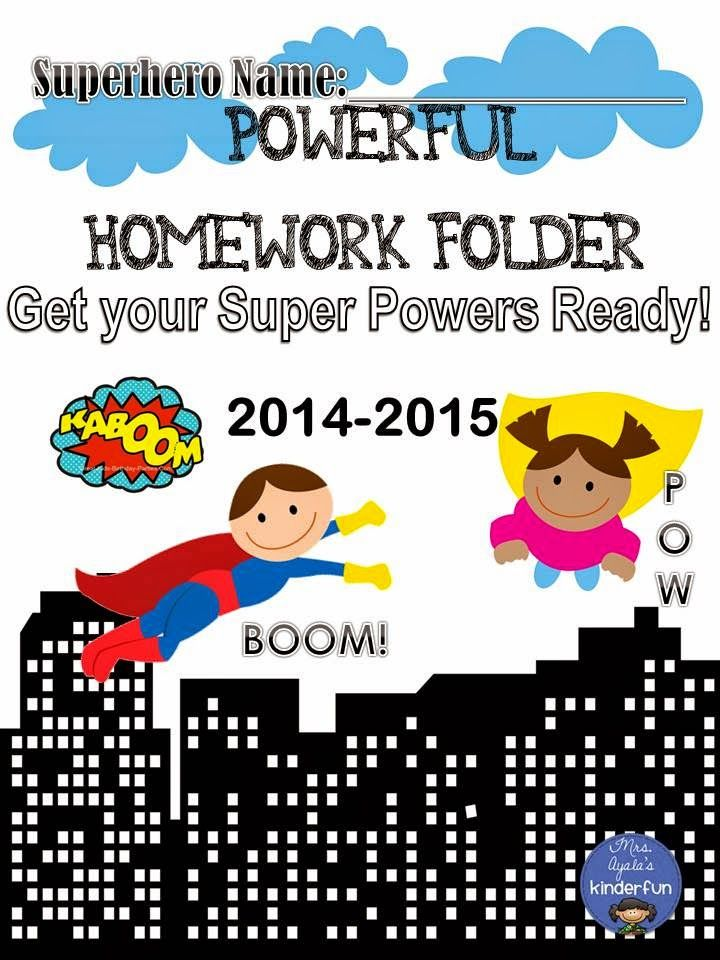 Powerful Homework Folder Cover Mrs Ayalas Kinder Fun