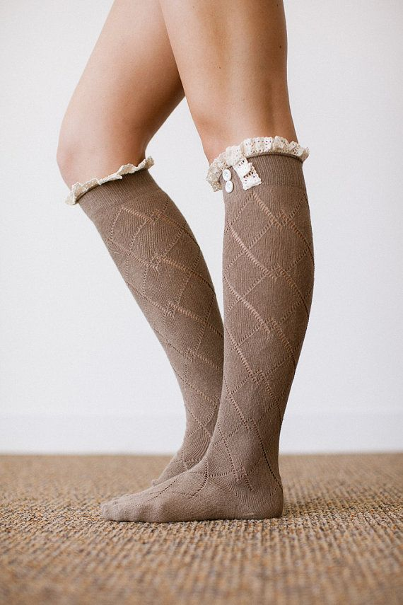 Lace Boot Socks Over the Knee Lacy