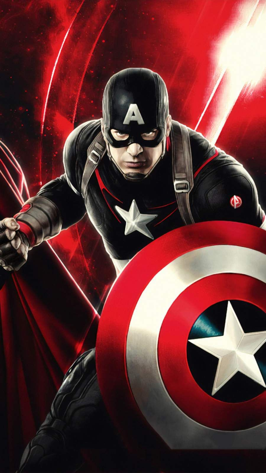 Captain America Art Iphone Red Mode Wallpaper Captain America Art Captain America Wallpaper America Art