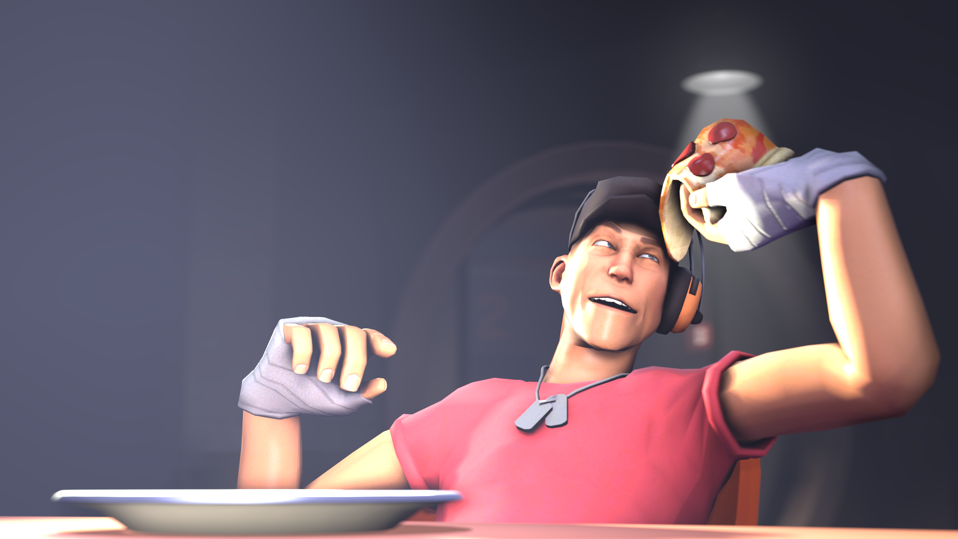 Literally Just A Picture Of Scout Eating A Pizza Games Teamfortress2 Steam Tf2 Steamnewrelease Gaming Valve Team Fortress 2 Scout Team Fortress