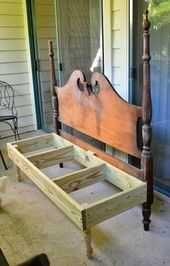 DIY Headboard Bench  Ein Raum Herausforderung  Woche Vier  Veranda  Heim und