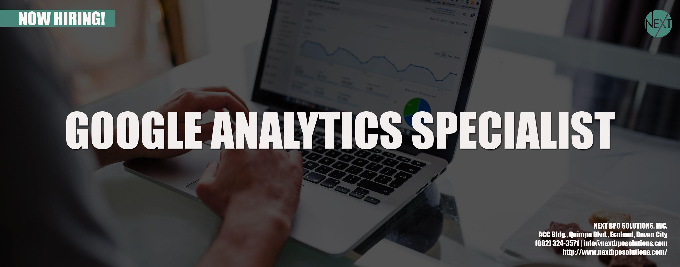 Google Analytics Philippines Pin by NEXT BPO