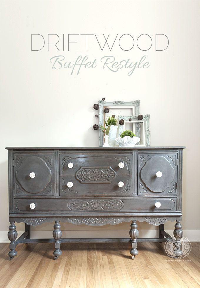 general finishes driftwood buffet restyle furniture pinterest rh pinterest com