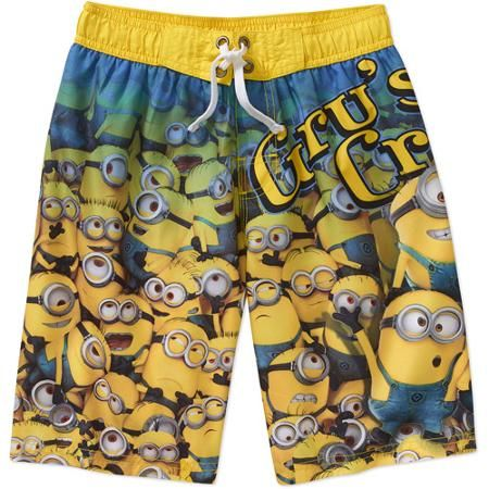 Boys Despicable Me Minions Swim Shorts Multiple Sizes nwot #809
