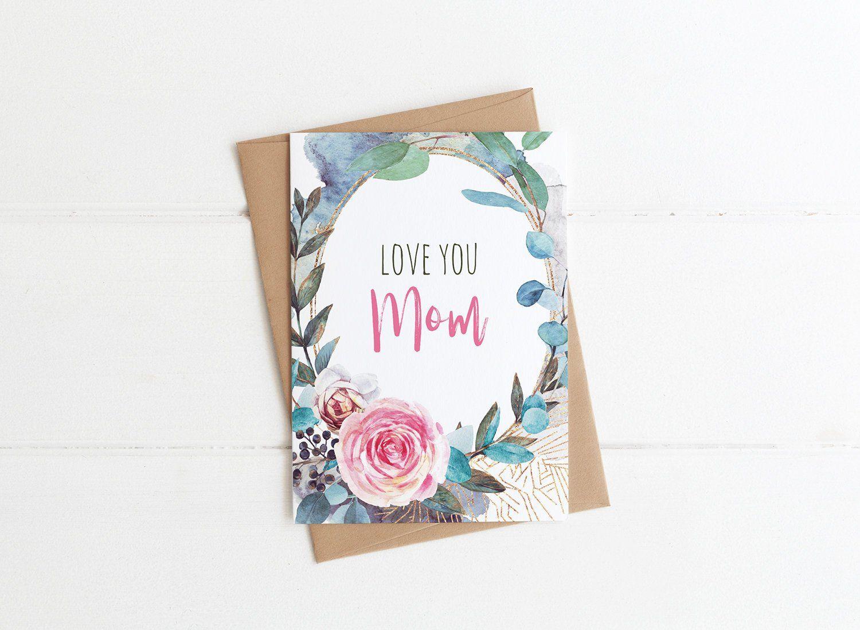 Mom Birthday Card Happy Birthday Mom floral Birthday Card  Etsy
