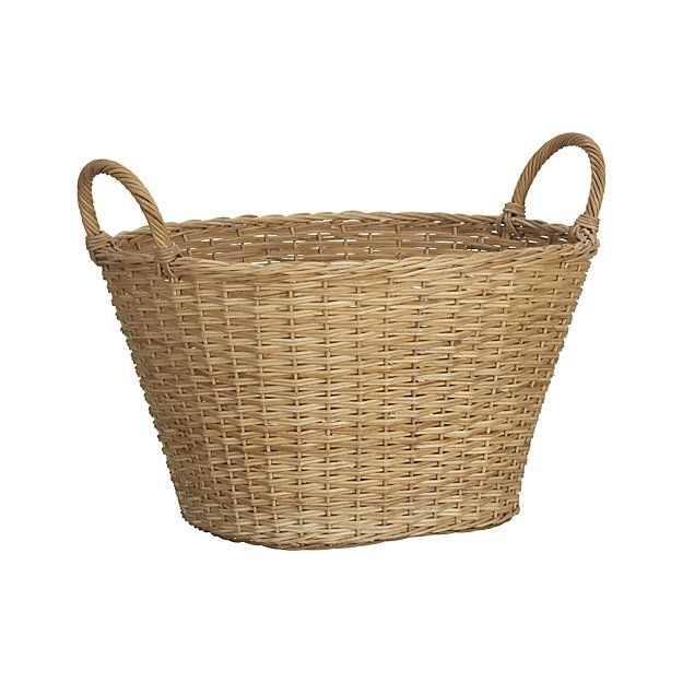 Wicker Laundry Basket Reviews Crate And Barrel Basket And
