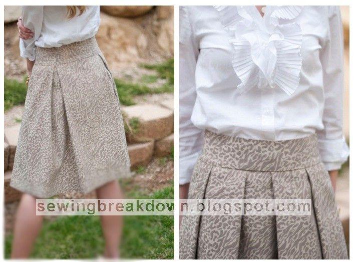 خياطة و تفصيل كيفية خياطة تنورة عريضة للمحجبات بالصور Fashion Womens Fashion Skirts