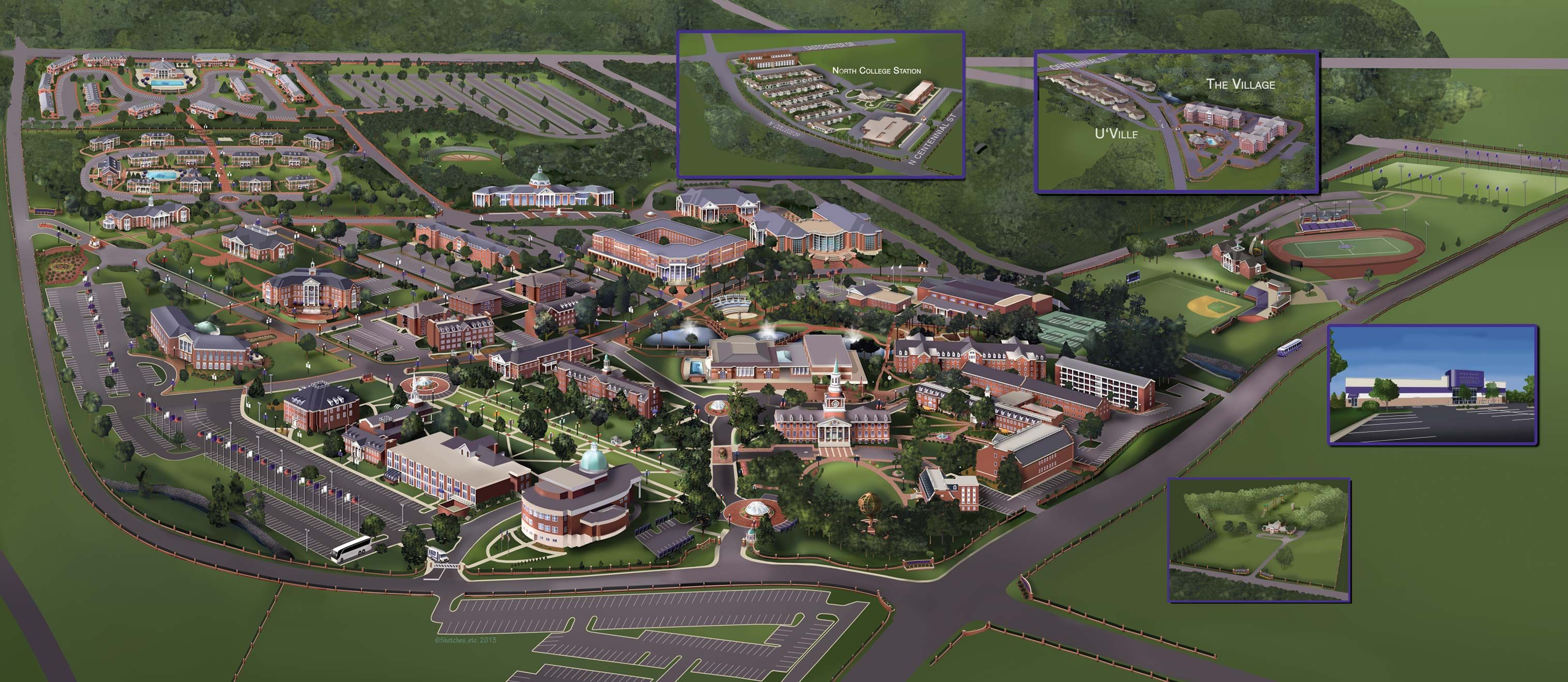 High Point University Campus Map Campus Map | College | Campus map, High point university, University