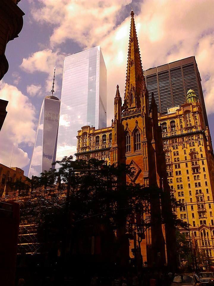Fredom Tower Behind Thrinity church