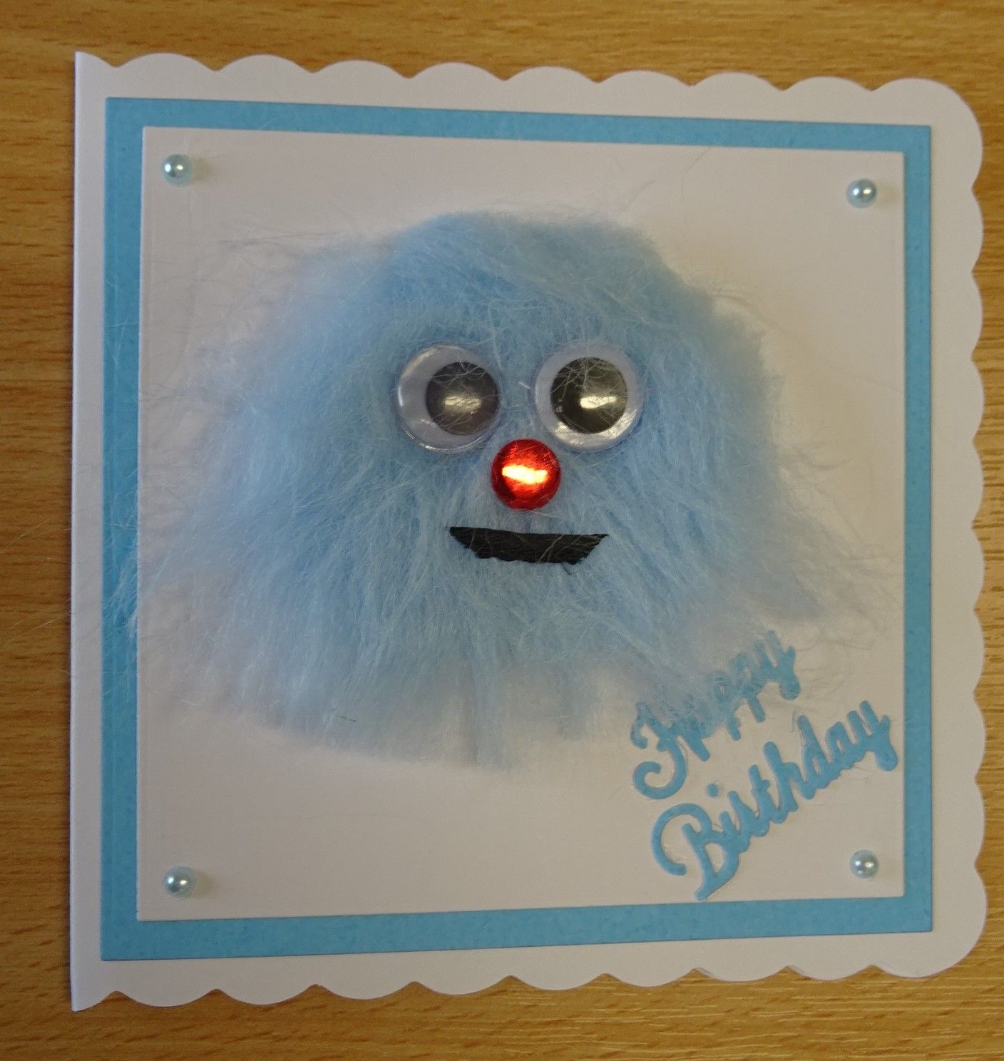 Handmade Birthday Card Furry Face 1 For More Of My Cards Please