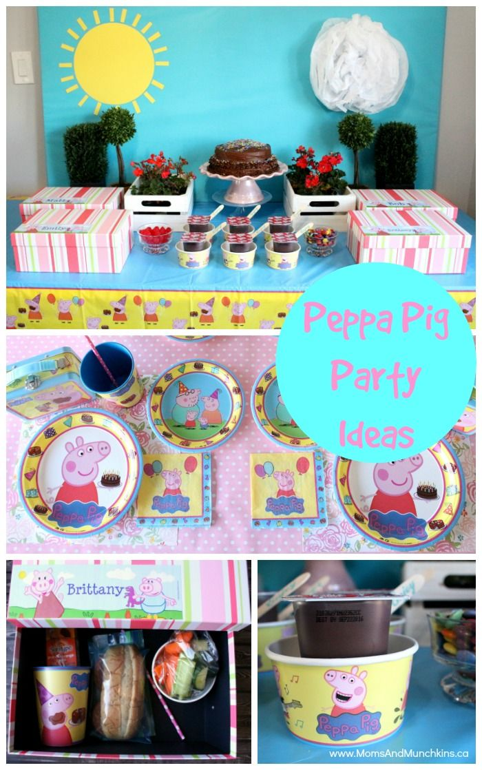 Peppa Pig Party Ideas And Supplies Party Time Pig Party
