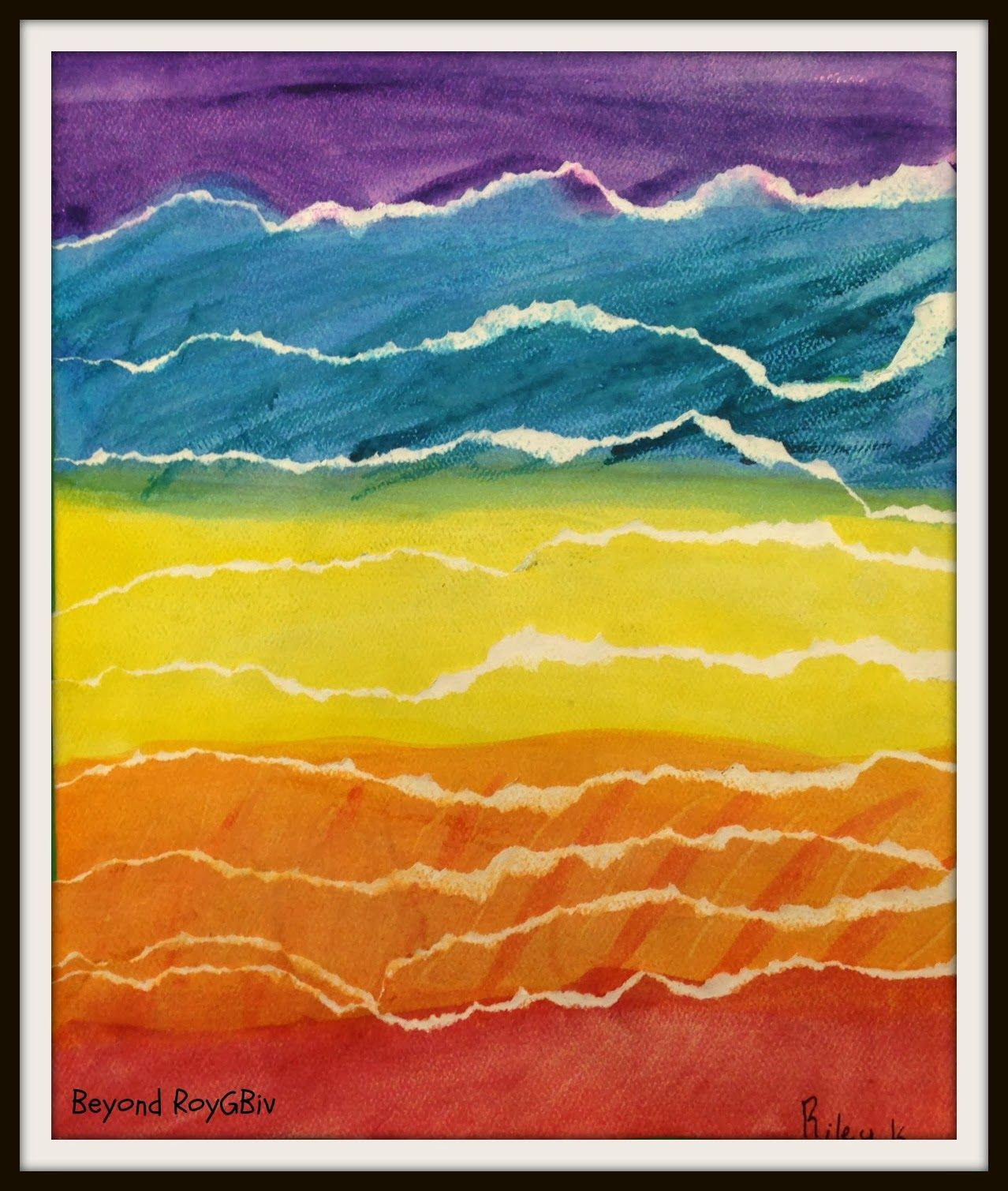 3rd Grade Watercolor Landscapes Watercolor Landscape Abstract